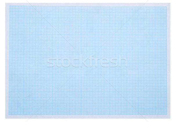 Math concept with sheet of blue graph paper background  Stock photo © inxti