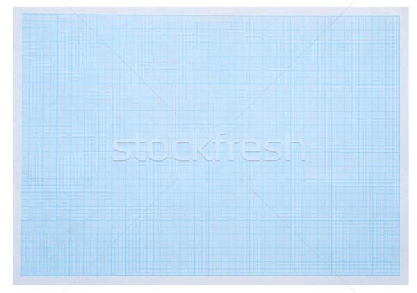 Math vel Blauw grafiek papier gebouw Stockfoto © inxti