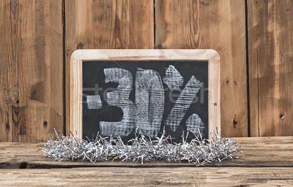 Trente pour cent écrit tableau noir école cadre Photo stock © inxti