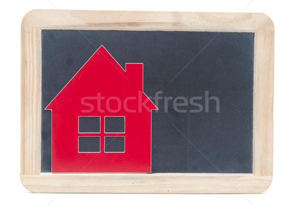Simbolo casa lavagna abstract porta sfondo Foto d'archivio © inxti