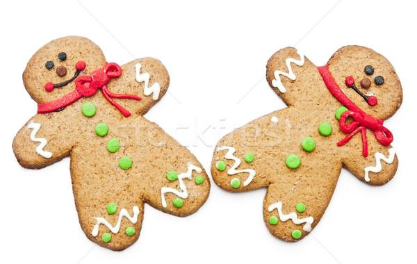 Gingerbread man sourire homme heureux cookie saisonnier Photo stock © inxti