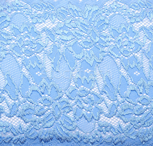Blue lace with pattern in the manner of colour on white backgrou Stock photo © inxti