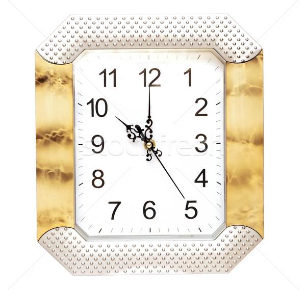 Parede relógio isolado branco negócio projeto Foto stock © inxti