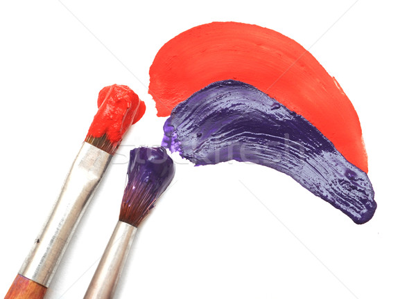 brush and paint scratch isolated on a white background Stock photo © inxti