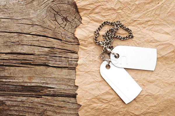 Srebrny łańcucha vintage przestrzeni yo Zdjęcia stock © inxti