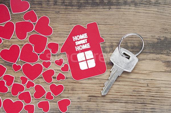 Zdjęcia stock: Kluczowych · etykiety · domu · budowy · streszczenie · bezpieczeństwa