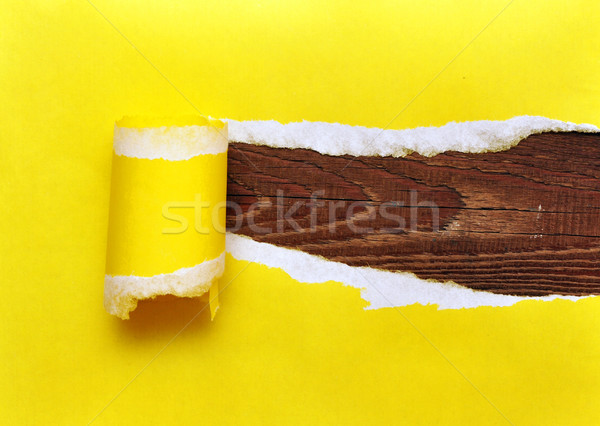 yellow torn paper Stock photo © inxti