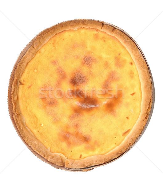 Sernik odizolowany biały żywności ciasto lody Zdjęcia stock © inxti
