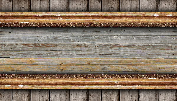 old wood background with carving  Stock photo © inxti