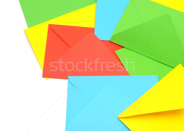 Foto stock: Colorido · isolado · branco · fundo · verde · azul