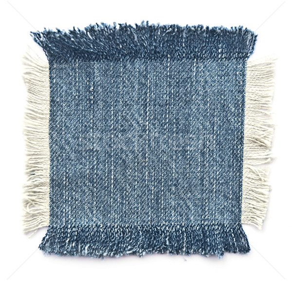 Tejido denim aislado blanco textura moda Foto stock © inxti