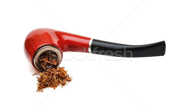 Tubería tabaco blanco fuego madera fumar Foto stock © inxti
