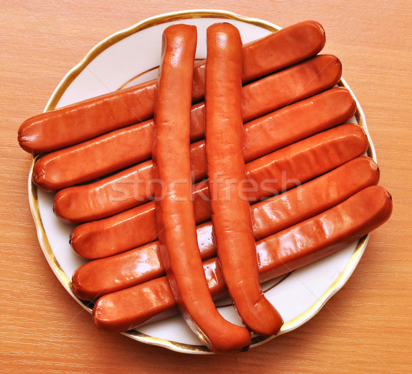 plate of sausages Stock photo © inxti