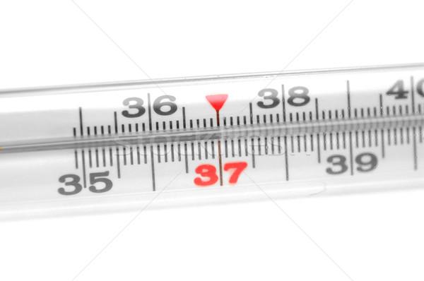 Tıbbi termometre yalıtılmış beyaz cam arka plan Stok fotoğraf © inxti