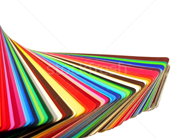 colorful color guide on white background with copy space Stock photo © inxti