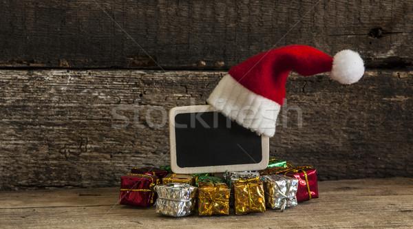 Рождества праздник Hat украшения орнамент Сток-фото © inxti