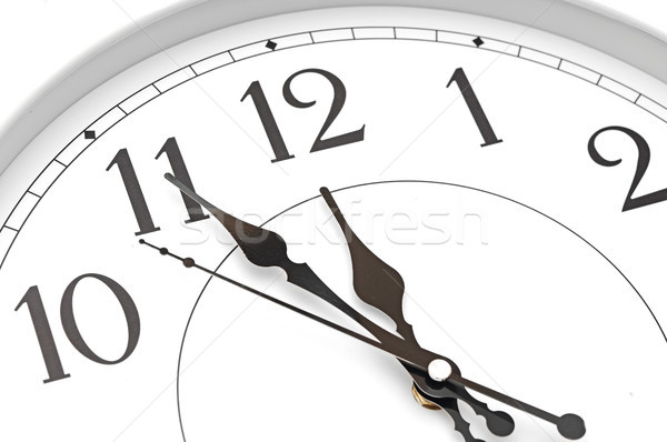 wall clock five minutes to twelve Stock photo © inxti