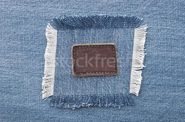 Bőr farmer címke farmernadrág konzerv használt Stock fotó © inxti