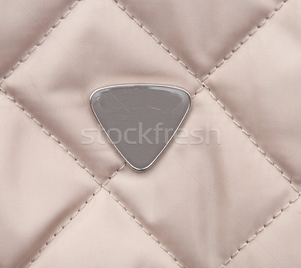 Beige quilted background with blank label  Stock photo © inxti