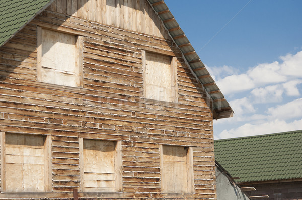 new wooden house built from timber Stock photo © inxti