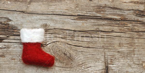 クリスマス ストッキング 木製 テクスチャ 木材 ヴィンテージ ストックフォト © inxti