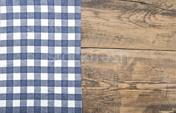 Nappe textiles texture table en bois bois tissu Photo stock © inxti