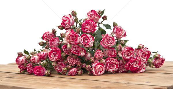 bouquet of roses on wooden table  Stock photo © inxti