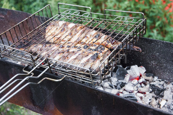 fish to the barbecue     Stock photo © inxti