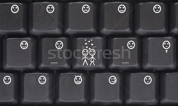 Computer keyboard smilies Stock photo © inxti