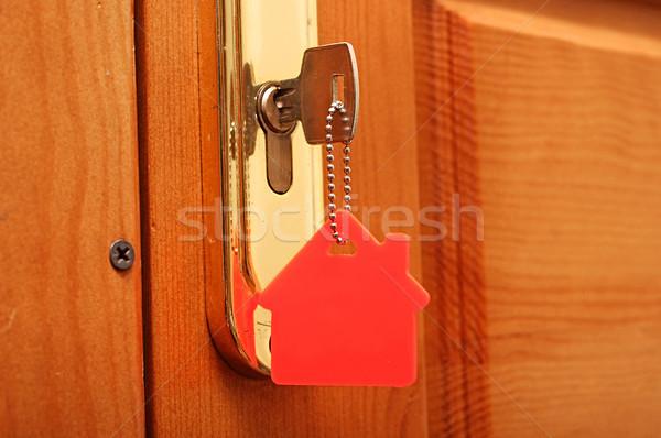Foto d'archivio: Chiave · lock · casa · icona · costruzione · home