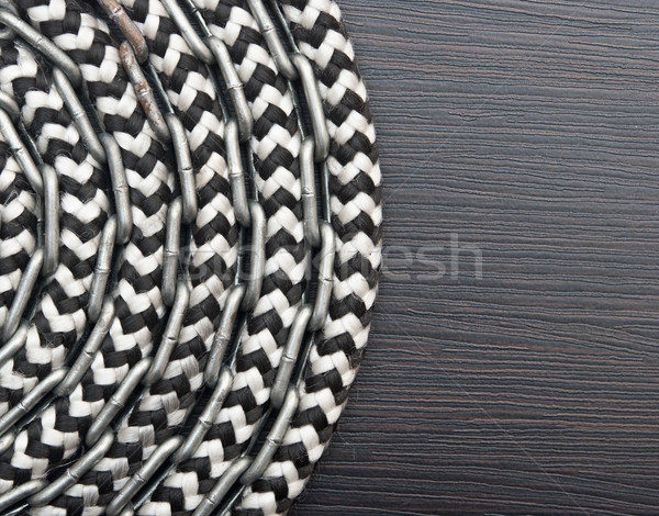 Stok fotoğraf: Metal · zincir · gemi · halat · karanlık · ahşap