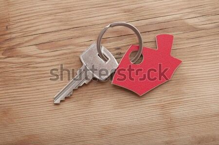 Keys to a new house isolated on white  Stock photo © inxti