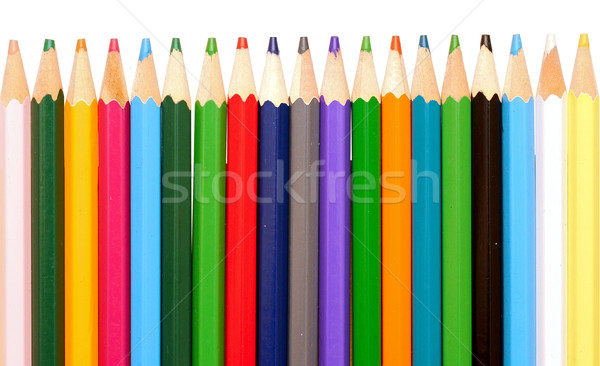Various colour pencils isolated on the white  Stock photo © inxti