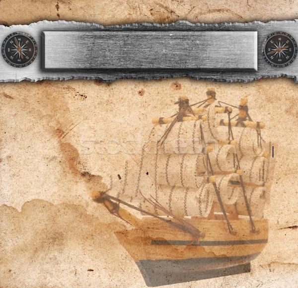 Nautical ancient background Stock photo © inxti