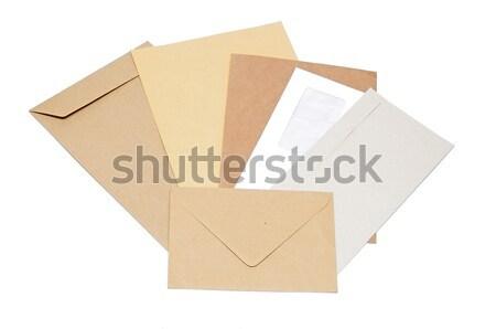 Pile of envelopes on white background Stock photo © inxti