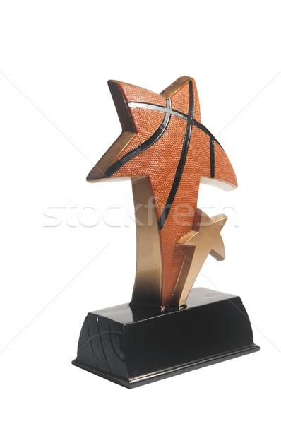 Csillag díj izolált fehér terv kosárlabda Stock fotó © inxti