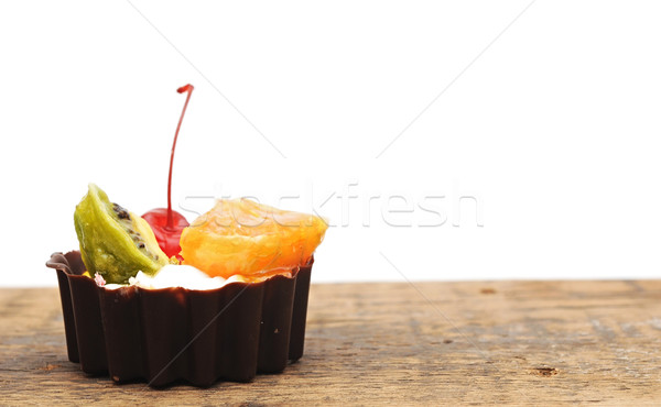 fresh baked cupcake on wooden table Stock photo © inxti