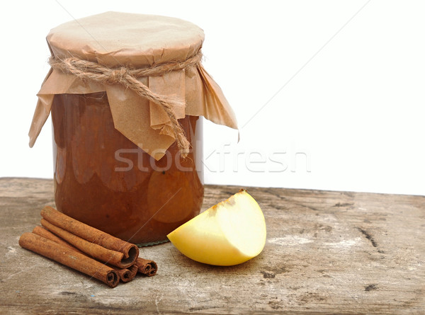 Apple jam with spices Stock photo © inxti