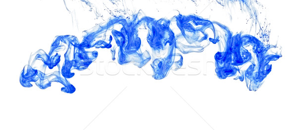 inks in water, colorful abstraction, blue Stock photo © inxti
