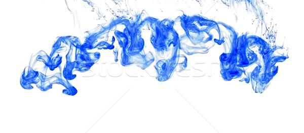 Water kleurrijk abstractie Blauw verf wetenschap Stockfoto © inxti