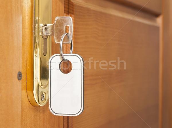 Key in door lock Stock photo © inxti