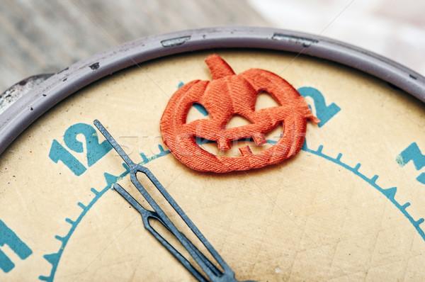 nearly twelve o'clock midnight,helloween concept. Stock photo © inxti
