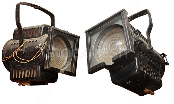 vintage studio light, isolated on white background  Stock photo © inxti