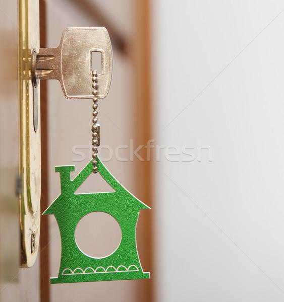 シンボル 家 スティック キー 前方後円墳 木材 ストックフォト © inxti