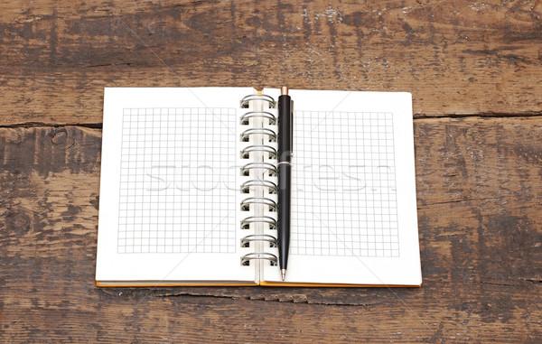 Сток-фото: ноутбук · пер · изолированный · белый · служба · книга