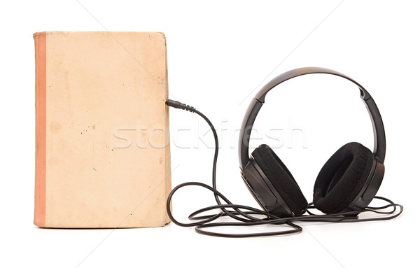 Earphone with book Stock photo © inxti