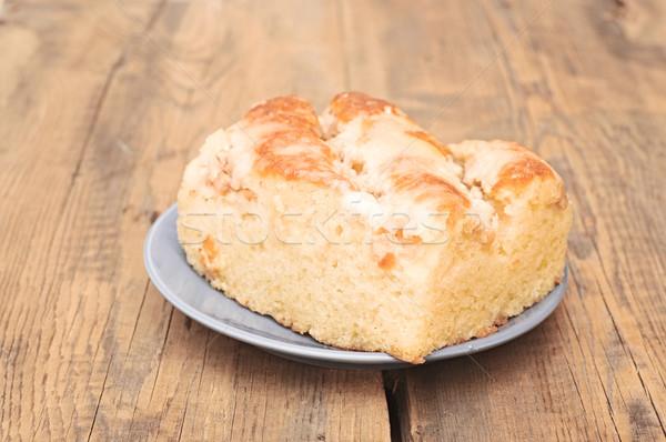 piece of apple pie on wooden table Stock photo © inxti