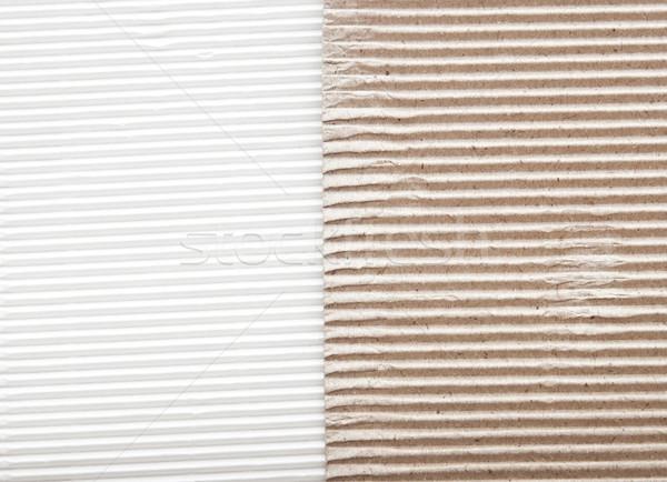 white cardboard border with brown cardboard Stock photo © inxti