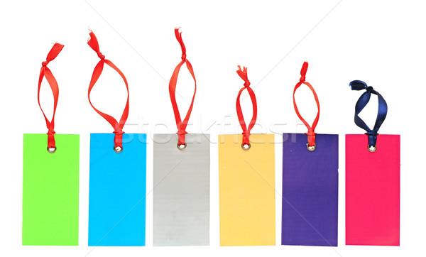 Groupe coloré tag étiquette vignette prix Photo stock © inxti