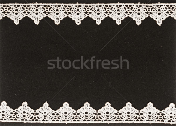 White lace on the black background Stock photo © inxti